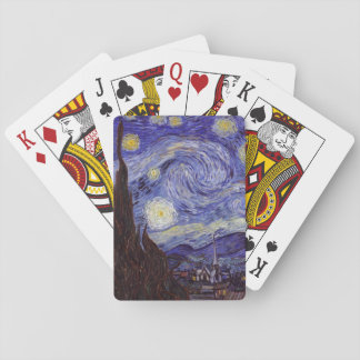 Vincent Van Gogh Starry Night Vintage Fine Art Playing Cards