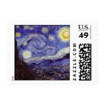 Vincent Van Gogh Starry Night Vintage Fine Art Postage