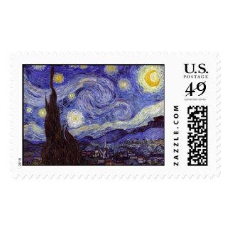 Vincent Van Gogh Starry Night Vintage Fine Art Postage Stamps