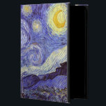 "Vincent Van Gogh Starry Night Vintage Fine Art Powis iPad Air 2 Case<br><div class=""desc"">Vincent van Gogh Starry Night Fine Art Painting Starry Night is a painting by Dutch post-impressionist artist Vincent van Gogh. The blue night sky is filled with swirling clouds, stars, and a bright crescent moon. The Starry Night is the only nocturne in the series of views from his bedroom window....</div>"