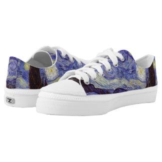 Vincent Van Gogh Starry Night Vintage Fine Art Printed Shoes