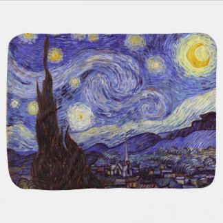 Vincent Van Gogh Starry Night Vintage Fine Art Receiving Blanket