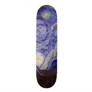 Vincent Van Gogh Starry Night Vintage Fine Art Skateboard