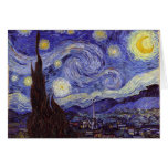 Vincent Van Gogh Starry Night Vintage Fine Art Stationery Note Card