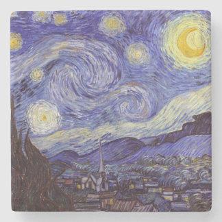 Vincent Van Gogh Starry Night Vintage Fine Art Stone Coaster