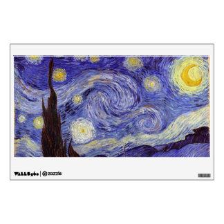 Vincent Van Gogh Starry Night Vintage Fine Art Wall Decal