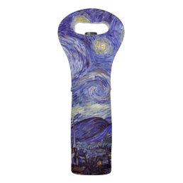Vincent Van Gogh Starry Night Vintage Fine Art Wine Bag