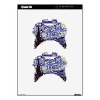 Vincent Van Gogh Starry Night Vintage Fine Art Xbox 360 Controller Decal