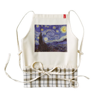 Vincent Van Gogh Starry Night Vintage Fine Art Zazzle HEART Apron