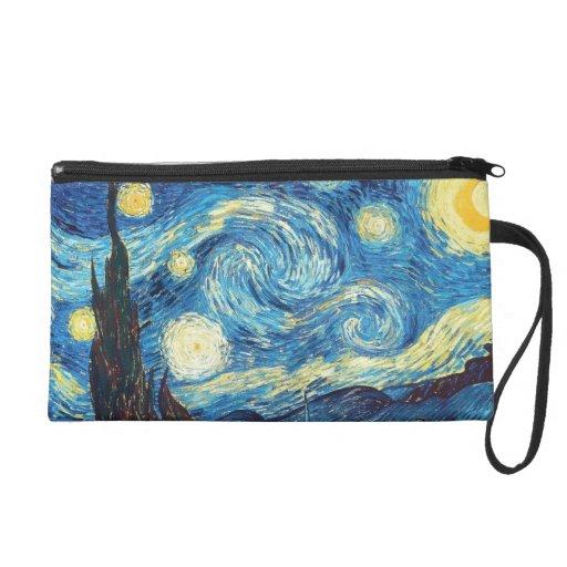 Vincent Van Gogh Starry Night Wristlet Purse
