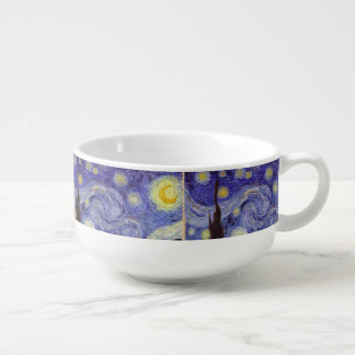 Vincent Van Gogh Starry Night Soup Bowl With Handle
