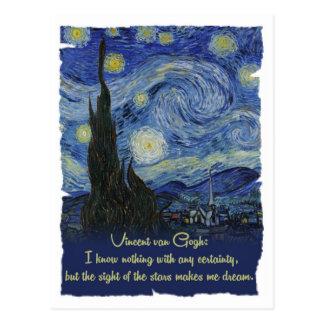 Vincent van Gogh Stars make me dream CC0774 Quotes Postcard