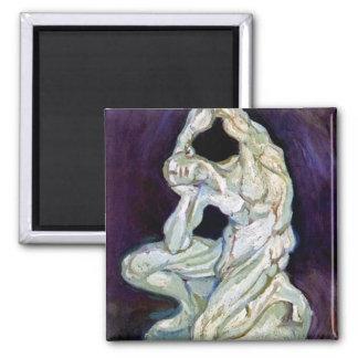 Vincent Van Gogh - Statuette Of A Kneeling Man Magnet