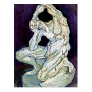 Vincent Van Gogh - Statuette Of A Kneeling Man Postcard