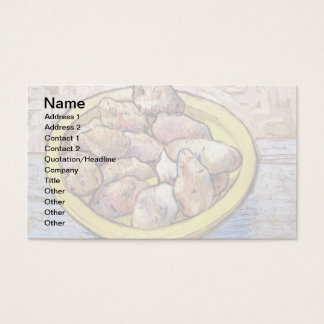 Vincent Van Gogh - Still Life Potatoes Fine Art Business Card