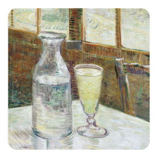 "Vincent Van Gogh Still Life With Absinthe Fine Art 5.25"" Square Invitation Card"