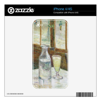 Vincent Van Gogh Still Life With Absinthe Fine Art iPhone 4 Skins