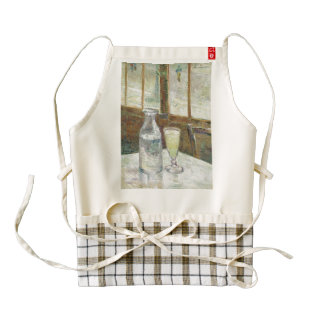 Vincent Van Gogh Still Life With Absinthe Fine Art Zazzle HEART Apron