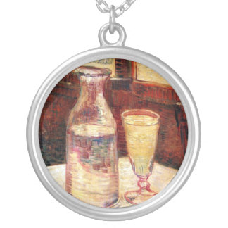 Vincent Van Gogh - Still Life with Absinthe Silver Plated Necklace