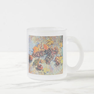 Vincent Van Gogh - Still Life With Apples Fine Art Frosted Glass Coffee Mug