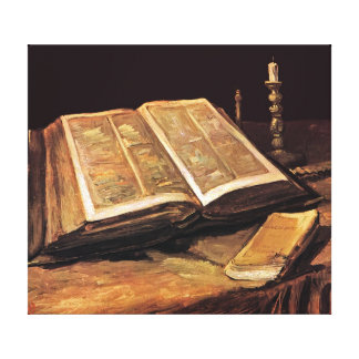 Vincent Van Gogh - Still Life With Bible Canvas Print
