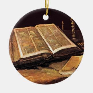 Vincent Van Gogh - Still Life With Bible Ceramic Ornament