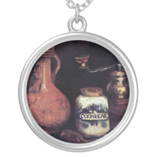 Vincent Van Gogh - Still Life With Coffee Mill Silver Plated Necklace
