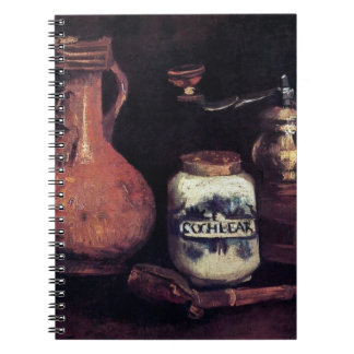 Vincent Van Gogh - Still Life With Coffee Mill Spiral Notebook