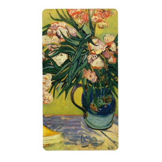 Vincent van Gogh - Still Life with Oleander Label