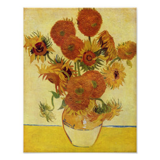 Vincent van Gogh - Still Life with Sunflowers Poster