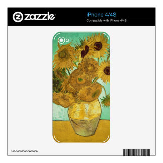 Vincent van Gogh | Sunflowers, 1888 Decals For The iPhone 4S