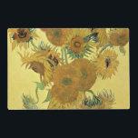"Vincent van Gogh | Sunflowers, 1888 Placemat<br><div class=""desc"">Sunflowers,  1888 | by Vincent van Gogh | Art Location: National Gallery,  London,  UK | Dutch Artist | Image Collection Number: BAL970</div>"