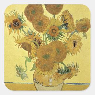 Vincent van Gogh   Sunflowers, 1888 Square Sticker