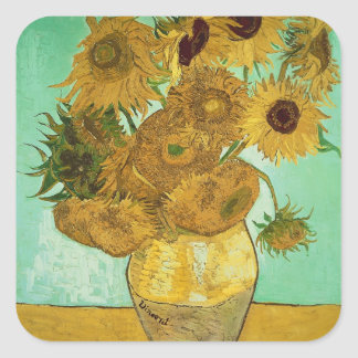 Vincent van Gogh | Sunflowers, 1888 Square Sticker