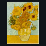 """Vincent Van Gogh Sunflowers Art Postcard<br><div class=""""desc"""">Love Vincent? Get this! This painting belongs to the Sunflowers serious by Vincent van Gogh,  painted in the 1880s.  This image is available to the public domain because its copyright has expired.</div>"""