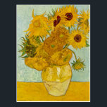 "Vincent Van Gogh Sunflowers Art Postcard<br><div class=""desc"">Love Vincent? Get this! This painting belongs to the Sunflowers serious by Vincent van Gogh,  painted in the 1880s.  This image is available to the public domain because its copyright has expired.</div>"