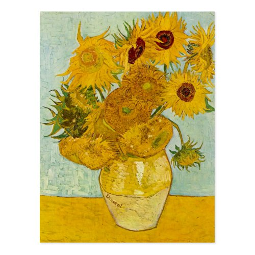 Vincent Van Gogh Sunflowers Art Postcard