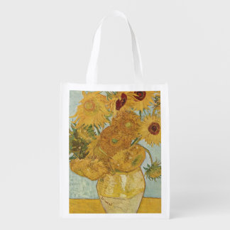 Vincent Van Gogh - Sunflowers Grocery Bag