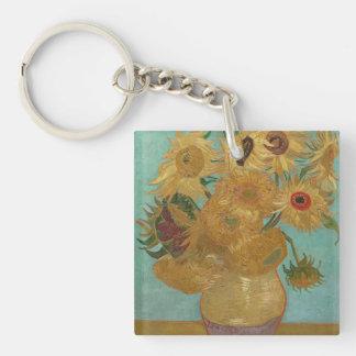 Vincent van Gogh - Sunflowers Keychain