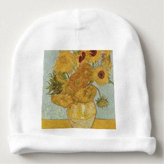 Vincent Van Gogh - Sunflowers - Lovely Floral Art Baby Beanie