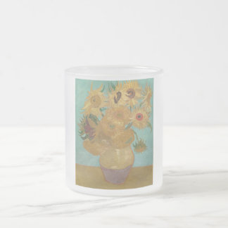 Vincent van Gogh - Sunflowers 10 Oz Frosted Glass Coffee Mug
