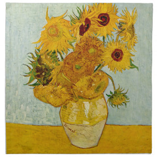 Vincent Van Gogh Sunflowers Napkin