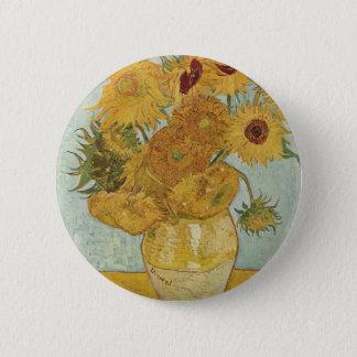 Vincent Van Gogh -  Sunflowers Pinback Button