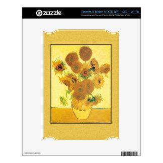 Vincent Van Gogh Sunflowers Decals For NOOK