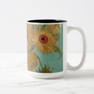 Vincent Van Gogh - Sunflowers Two-Tone Coffee Mug