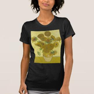 Vincent van Gogh sunflowers vase flowers art Tshirts