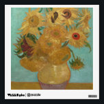 """Vincent Van Gogh - Sunflowers Wall Decal<br><div class=""""desc"""">Beautiful painting of sunflowers by Vincent Van Gogh. Great Van Gogh gifts for flower lovers on many unique products.</div>"""