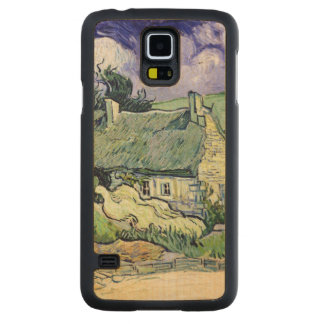 Vincent van Gogh | Thatched cottages at Cordeville Carved Maple Galaxy S5 Case