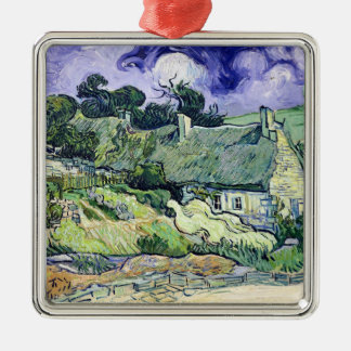 Vincent van Gogh | Thatched cottages at Cordeville Metal Ornament