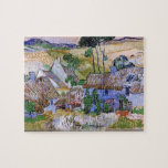 Vincent van Gogh - Thatched Cottages by a Hill Jigsaw Puzzles
